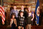 Family with Governor Dayton