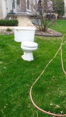 lawn toilet